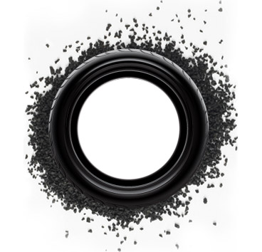 shredded rubber tyre